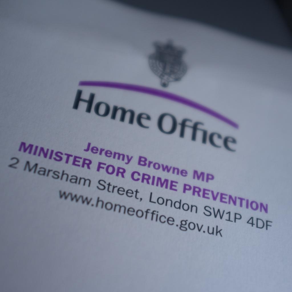 Letter rom Home office